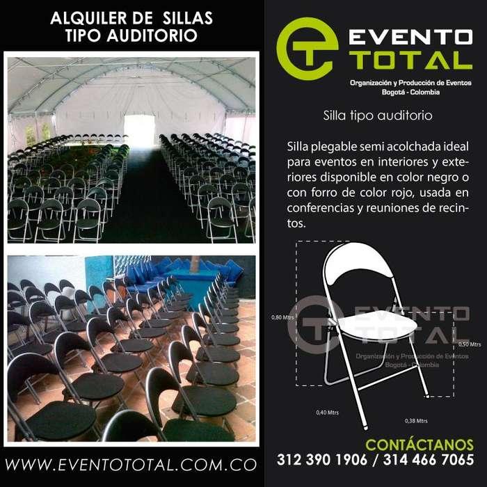 Alquiler de sillas de auditorio