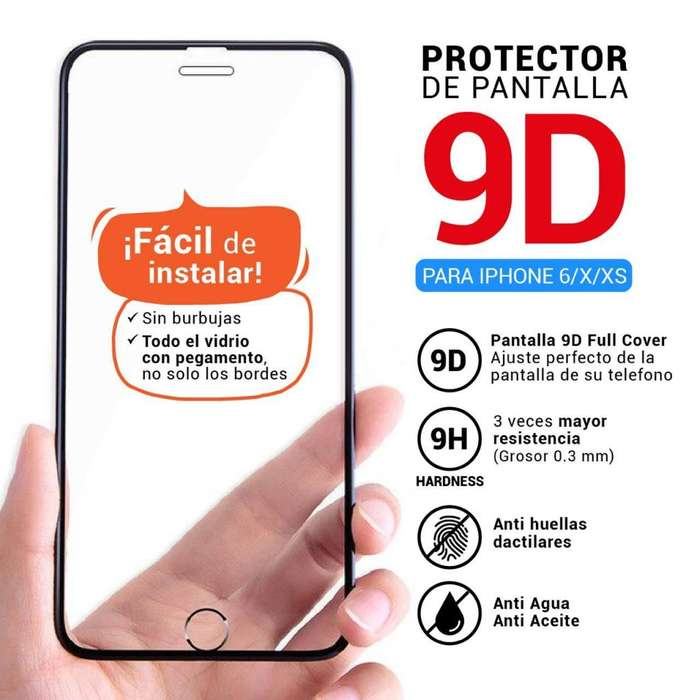 Micas 9d para iPhone Xxs Negras Y 6g Bl