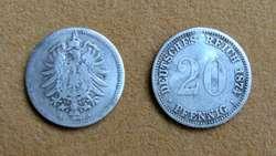 Moneda de 10 pfennig Alemania 1876J
