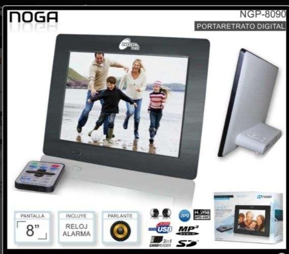 Portaretrato Digital 8 Noganet Jpg Mp3 Video Reloj Ngp 8090