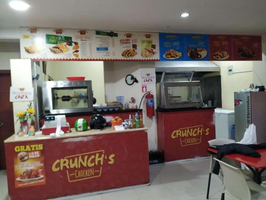 De oportunidad se vende hermoso local de comida rápida en el centro de la ciudad.