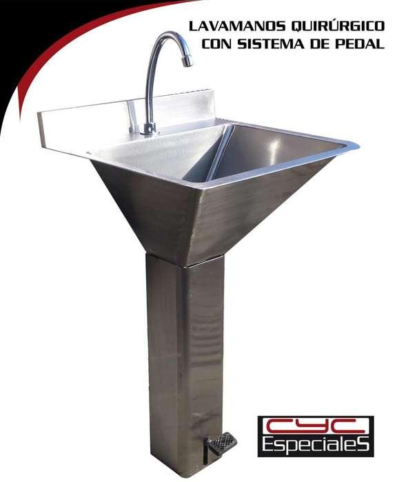 Lavamanos de Pedal Quirúrgico Hoteles restaurante hospitales zonas de procesos gastronimicos