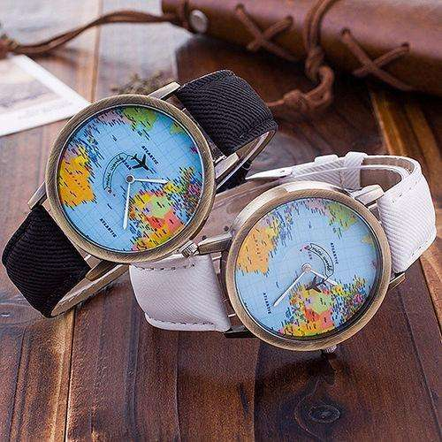 Reloj Viajero Mapamundi Mini World