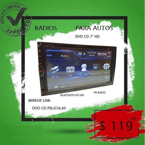 Radio 2din Dvd Peliculas HD Bluetooth tactil usb sd fm universal