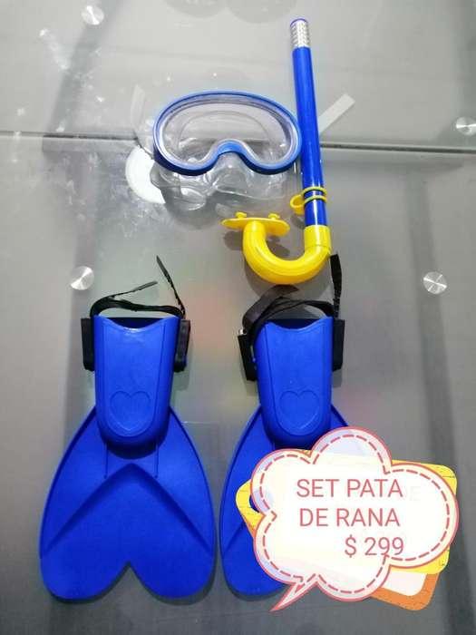 SET DE PATAS DE RANA