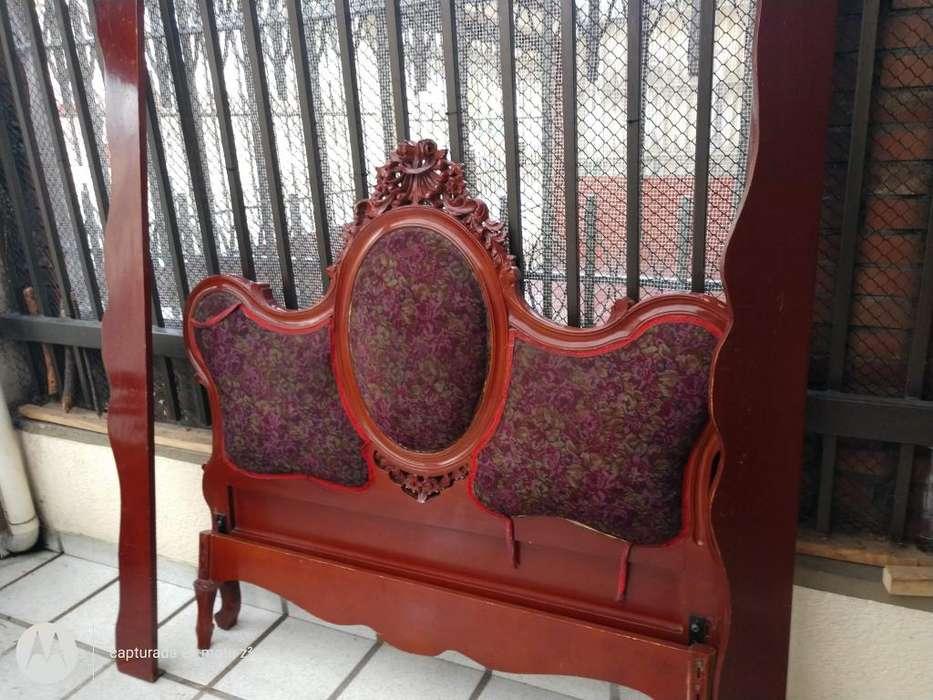 <strong>cama</strong> doble con talla Luis XV