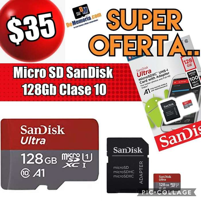 Oferta Memoria Microsd 128gb Sandisk C10