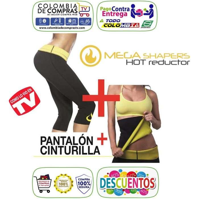 Pantalón y Cinturilla TV Mega Shapers Hot Reductor, Tallas S, M, L, XL, XXL, Nuevos, Originales, Garantizados...
