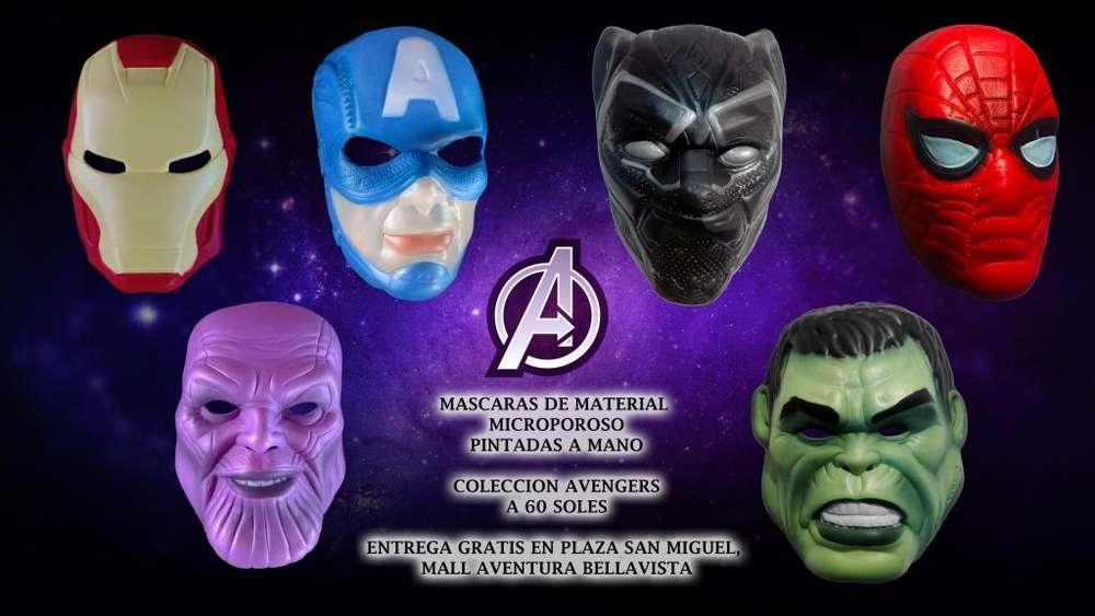 Colección Máscaras Avengers - 60 soles (toda la colección)