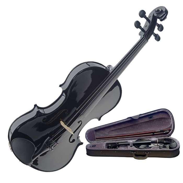 violin color negro para principiantes adultos niños