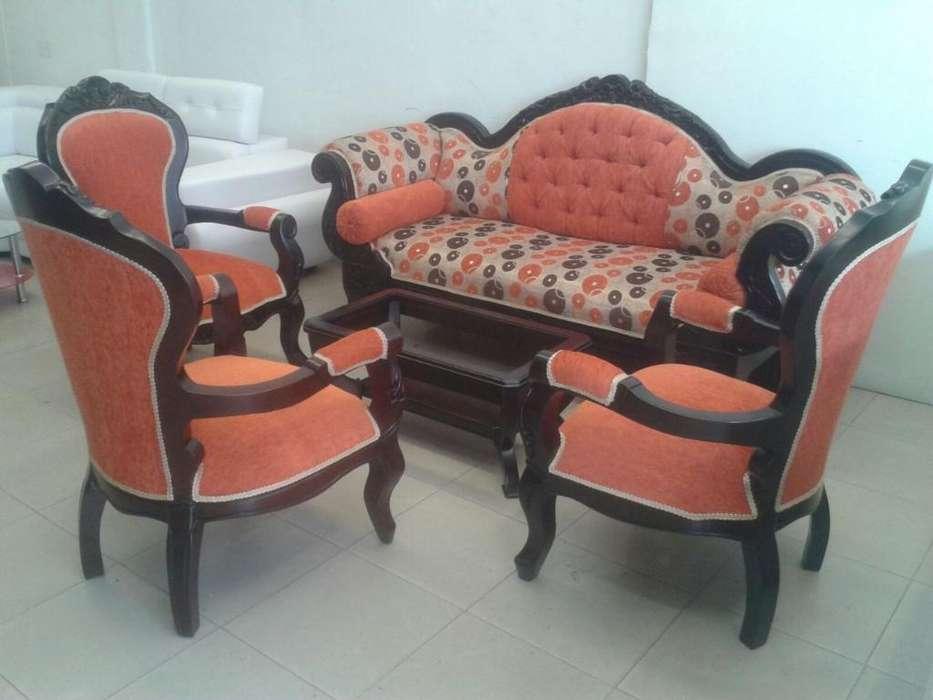 Sala Isabelina X3 <strong>silla</strong>s en Cedro