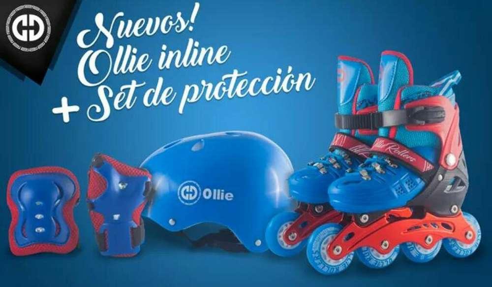 Patines Roller Ollie Set de Proteccion