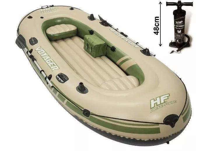 Bote Inflable Voyager 500 Hf 3 Pers Inflador Remos Aluminio