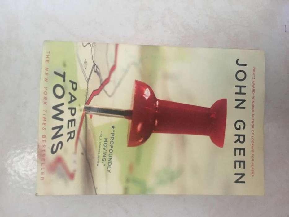 Libro Paper Towns (ciudades de papel) John Green