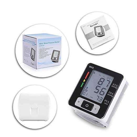 Tensiómetro digital Monitor de presión arterial muñeca Blood Pressure CK W133