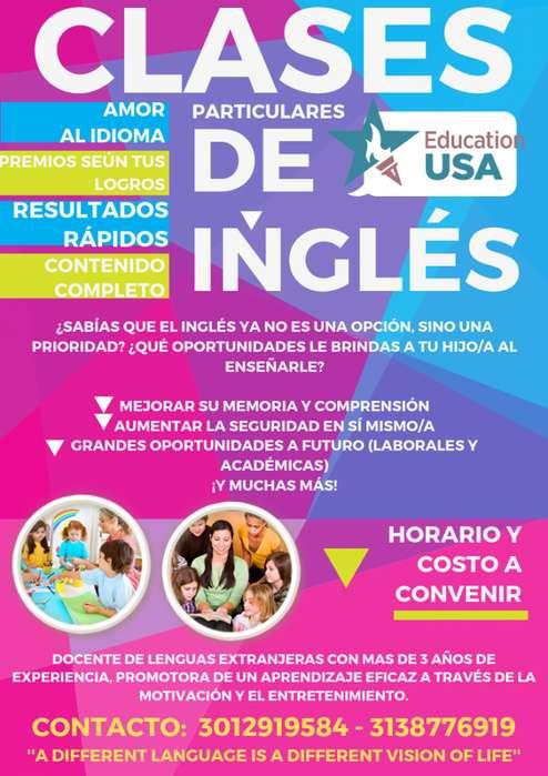 CLASES PARTICULARES DE INGLÉS ESPECIALES