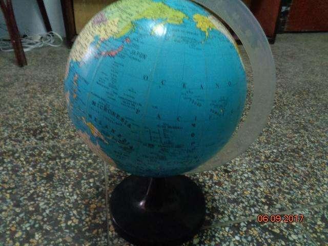 antigua globo terráqueo o mapa mundi giratorio
