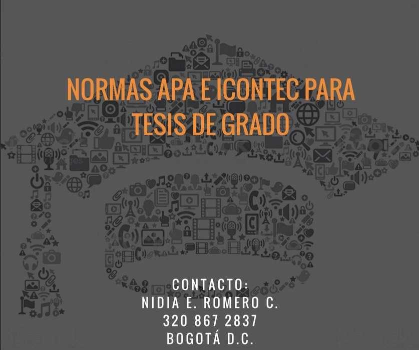 ASESORÍAS TESIS NORMAS APA E ICONTEC