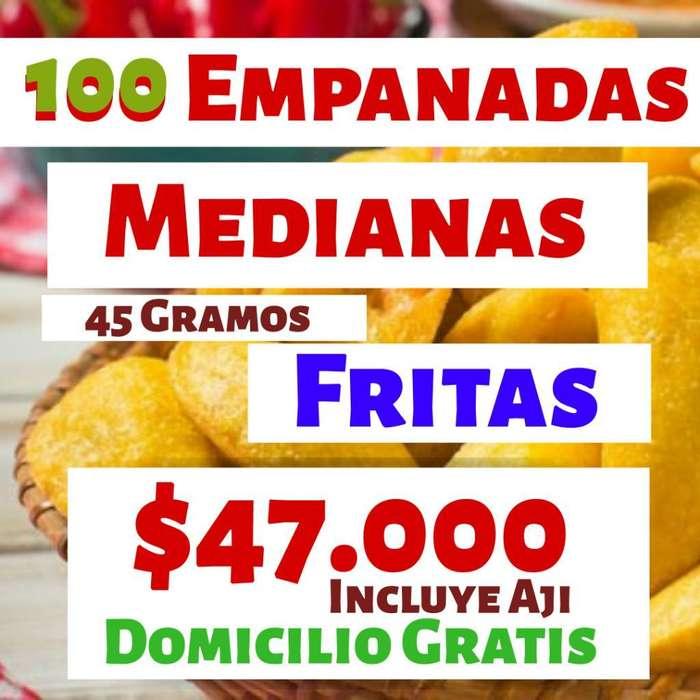 100 Empanadas Medianas Fritas Mas Aji