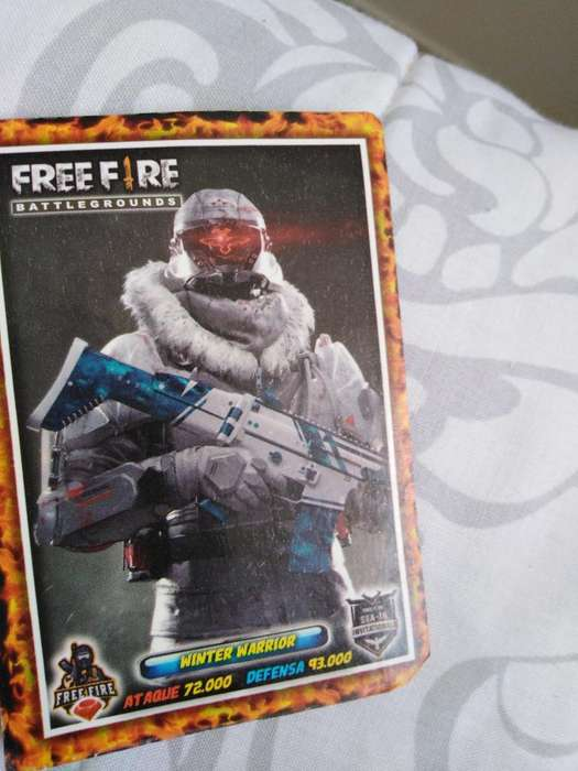 Vendo 18 Cartas Originales de Free Fire
