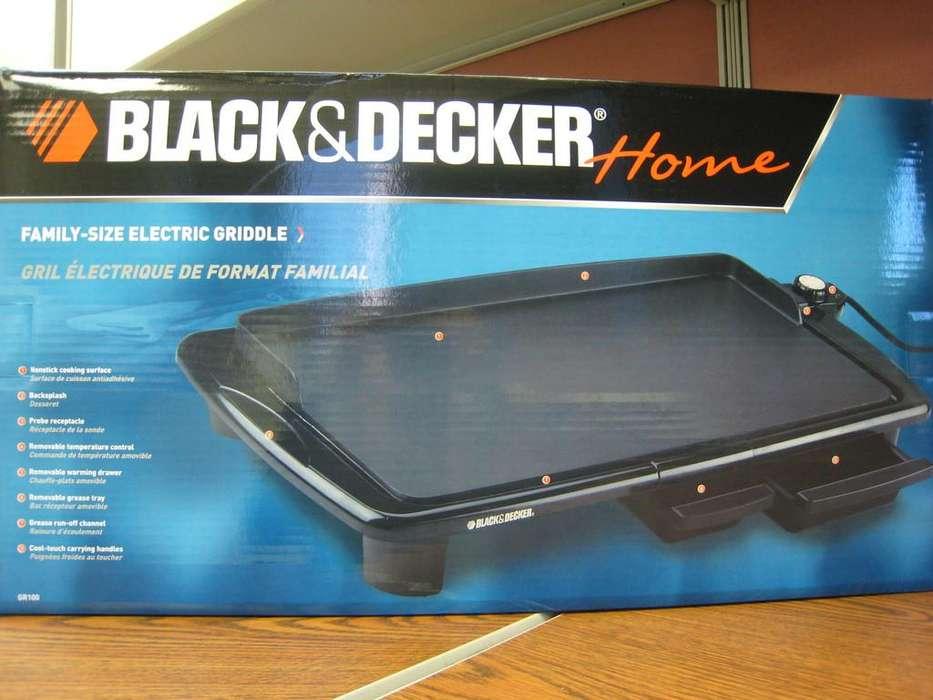 plancha electica black deker