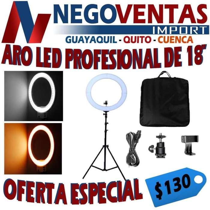 ARO LED DE 18 PULGADAS IDEAL PARA DECOARCIONES O FOTOS