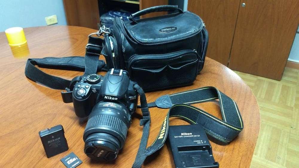Cámara Nikon D3100 Excelente Completa
