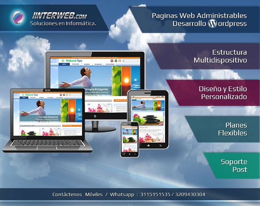 Paginas Web Multipantalla Administrables / Wordpress Woocommerce