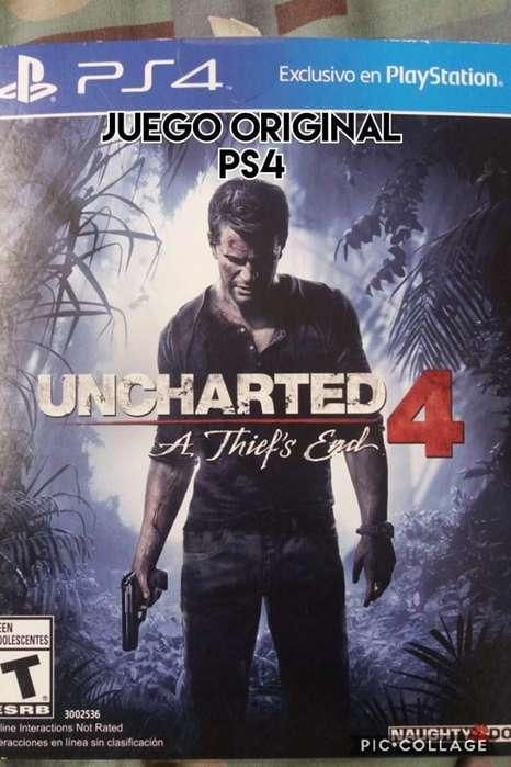 juego original uncharted 4 ps4 fisico venta cambio