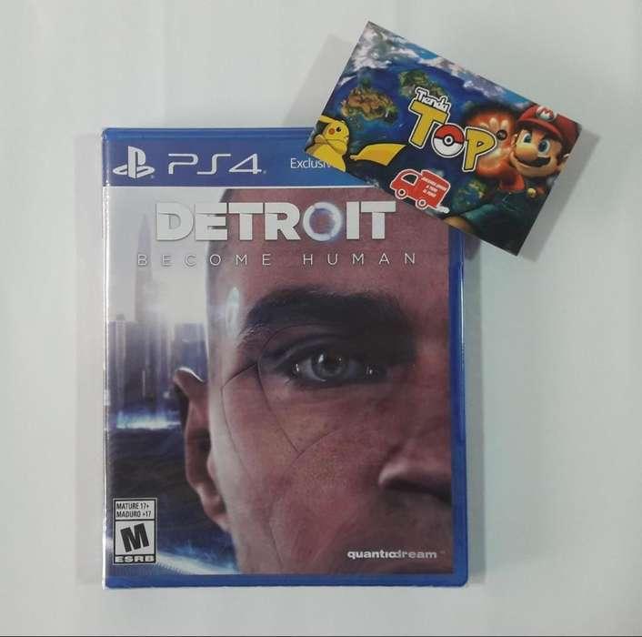 PS4 DETROIT NUEVO SELLADO, PLAY STATION 4, TIENDATOPMK