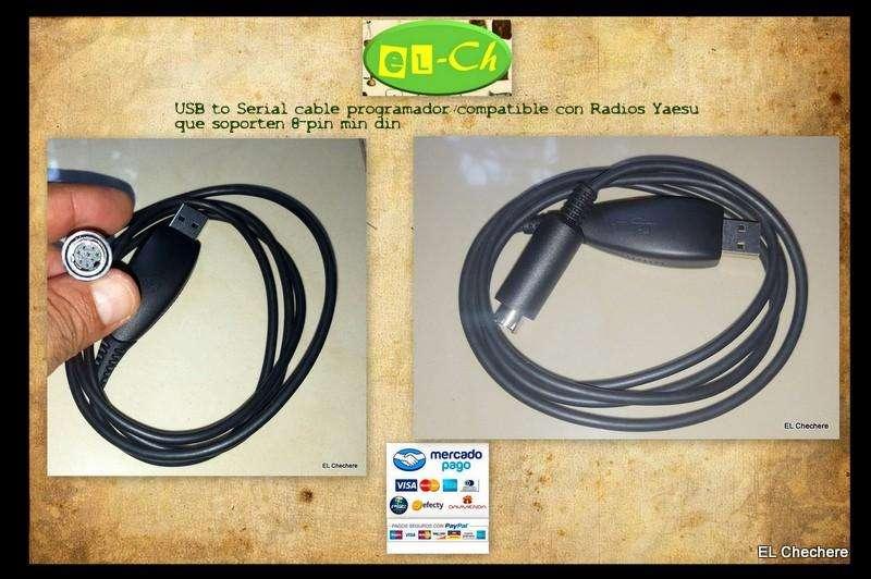 USB to Serial cable programador compatible con Radios Yaesu que soporten 8pin min din