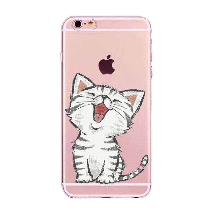 Case / Carcasa Transparente Gato para Celular iPhone 7