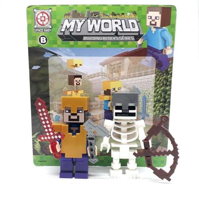 Juguete Minecraft De Colección Figuras My World De 8 cm