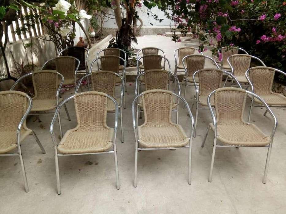 <strong>silla</strong>s de aluminio y Rattan en venta. 3015015596. En Barranquilla.