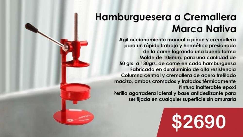 HAMBURGUESERA A CREMALLERA MARCA NATIVA