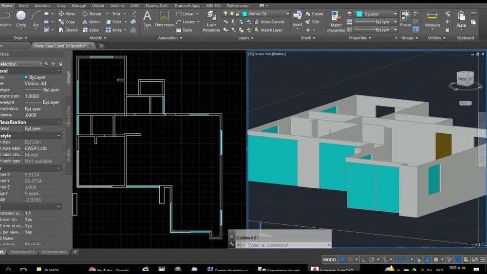 Planos Y Figuras Geométricas 2D Y 3D AUTOCAD