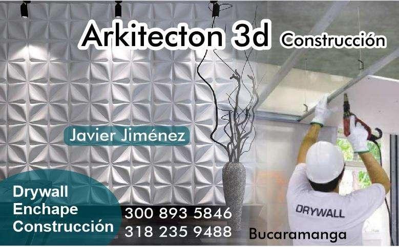 MUROS 3D, drywall, reformas, enchape de pisos, baños y cocinas 3008935846