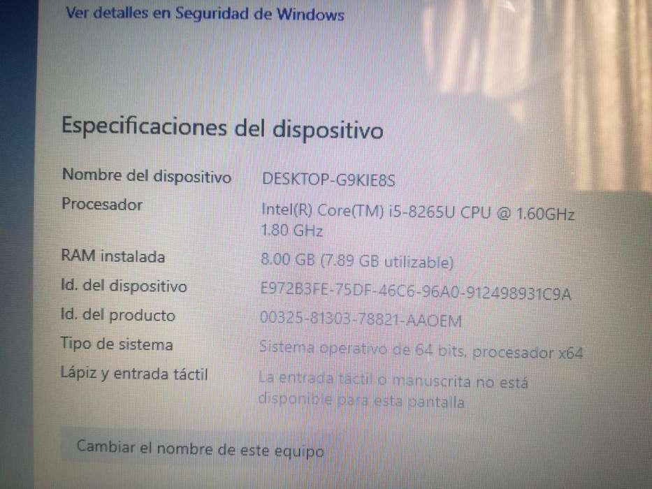 LAPTOP HP CORE i5-8265U, 256GB SSD, 8GB