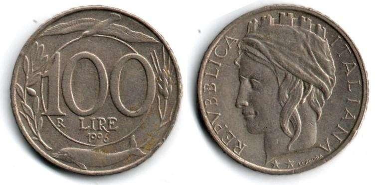 ITALIA. MONEDA. 100 LIRAS. 1996. KM 159. 210 M UNIDADES. ESTADO 7 DE 10. VALOR 900