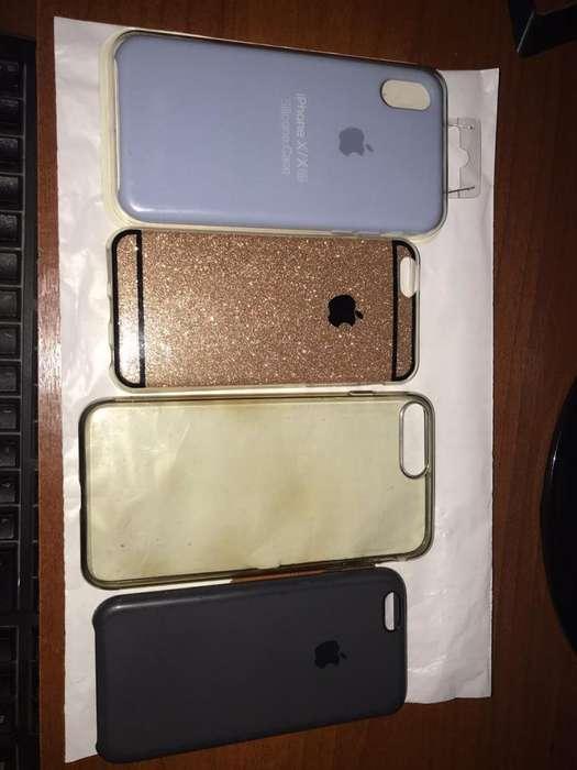 Vendo fundas iPhone X,XS,7 PLUS, 6/S (usadas y nuevas)