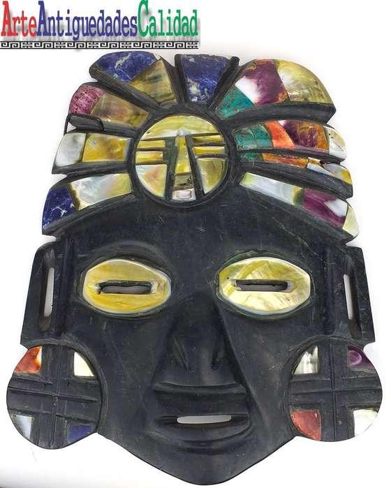 Máscara De Jade, Incrustado Con Piedras Preciosas, Joyería,