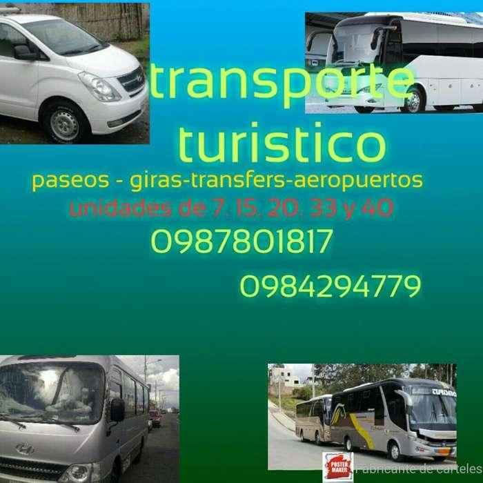 Alquiler Transporte Turístico Nacional