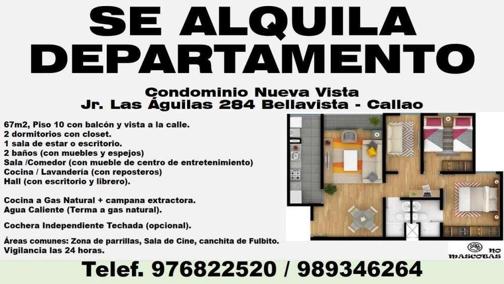 Alquilo Departamento Cond. Nueva Vista // Bellavista - Callao