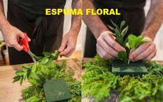 espuma floral marca OASIS en cajas de 24 unidades