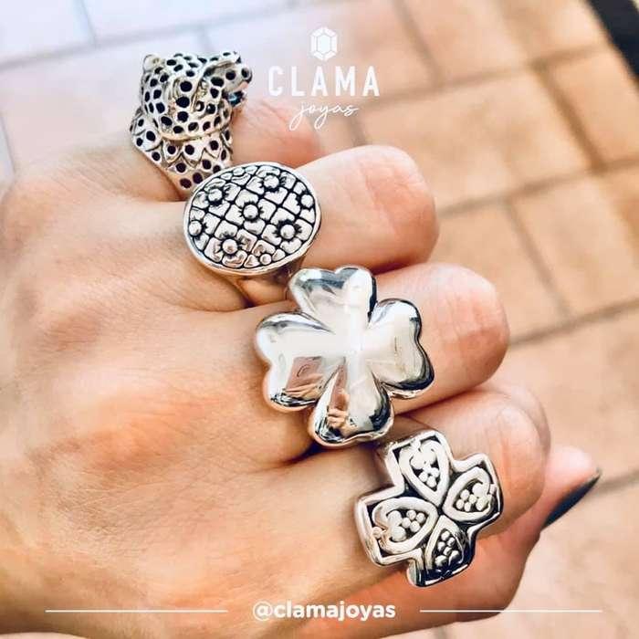 anillos de <strong>plata</strong>