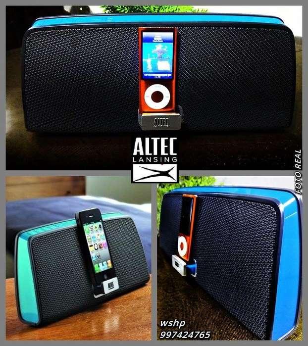 speaker ALTAVOZ ALTEC LANSING MARCA AMERICANA IPOD IPHONE 4 LAPTOP AUX MP3