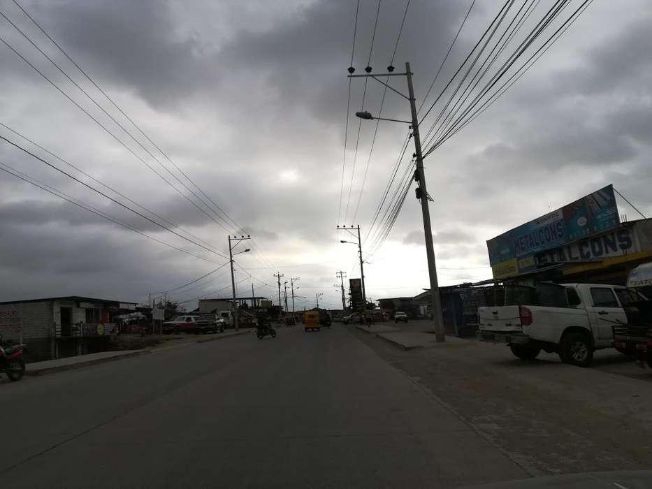 Vendo terreno comercial esquinero Pedernales 380m2,via al Carmen, para,locales