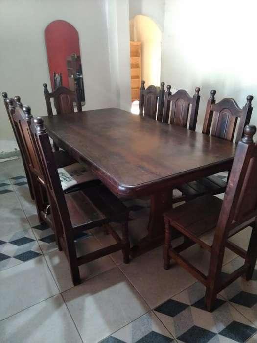 Juego de Mesa Y 8<strong>silla</strong>s de Algarrobo