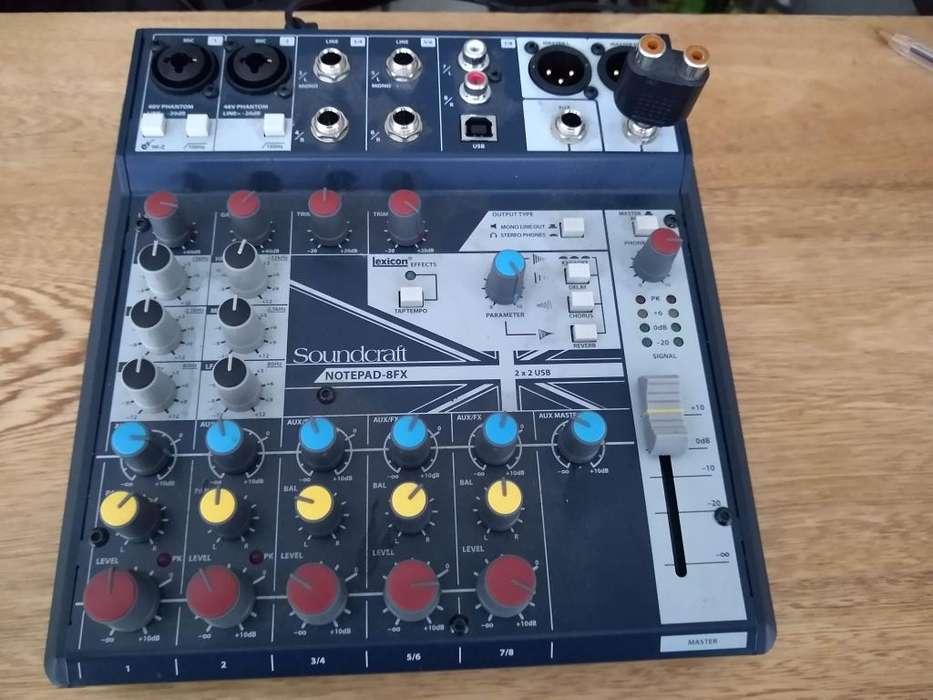 Soundcraft Notepad-8fx Consola De Mezcla Con Efectos Lexicon
