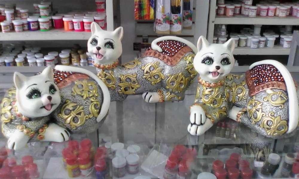 gatos ceramica